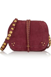 Jerome Dreyfuss Nestor Embellished Suede Shoulder Bag
