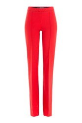 Victoria Victoria Beckham Flared Wool Pants Red