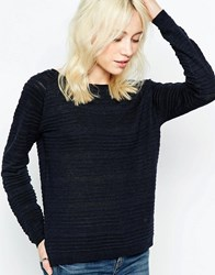 Only Textured Ribbed Jumper Night Sky Navy