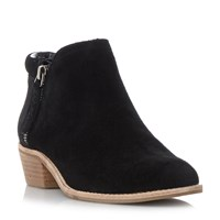 Steve Madden Tobii Side Zip Ankle Boots Black