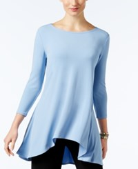 Alfani Jersey High Low Tunic Only At Macy's Gentle Blue