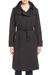 London Fog Women's Double Breasted Trench Coat Black