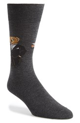 Polo Ralph Lauren 'Martini Bear' Socks Charcoal Heather