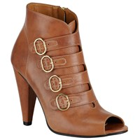 Alice By Temperley Somerset By Alice Temperley Otterford Open Toe Ankle Boot Brown Leather