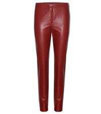 Etoile Isabel Marant Jeffery Faux Leather Trousers Red