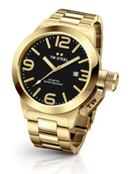 Tw Steel Canteen 45Mm Goldplated Stainless Steel Bracelet Watch