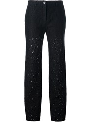 N 21 No21 Sheer Lace Tapered Trousers Black