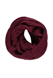 Forever 21 Chunky Knit Infinity Scarf Burgundy