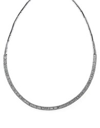 Effy Diamond And 14K White Gold Collar Necklace 4.16 Tcw Diamond White Gold