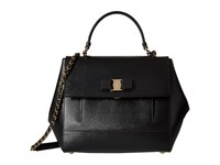 Salvatore Ferragamo Carrie 21F558 Nero Satchel Handbags Black