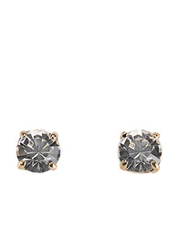 Kate Spade 12 Kt Gold Plated Clear Glass Stud Earrings