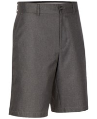 Greg Norman For Tasso Elba Men's Big And Tall Houndstooth Shorts Only At Macy's Grey