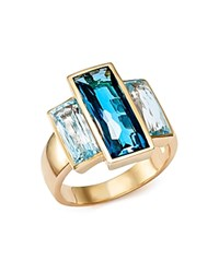 Bloomingdale's London Blue And Sky Blue Topaz Three Stone Ring In 14K Yellow Gold Blue Gold