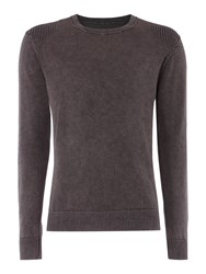 Label Lab Powder Wash Crew Neck Dark Grey