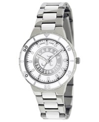 Game Time Watch Women's University Of Alabama White Ceramic And Stainless Steel Bracelet 37Mm Col Pea Ala2