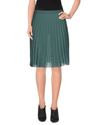 Brian Dales Knee Length Skirts Green
