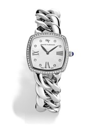 David Yurman Albion 27Mm Stainless Steel Quartz Watch With Diamonds Silver