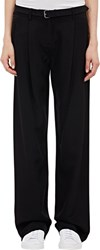 Atm Anthony Thomas Melillo Faille Wide Leg Trousers Black Size 0 Us