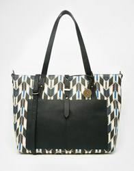 Fiorelli Printed Shopper Bag Winter Stripe Black