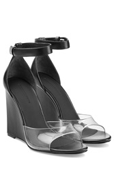 Alexander Wang Leather Wedges Black