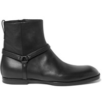 Bottega Veneta Leather Jodhpur Boots Black