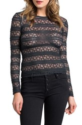 Lamade Women's Banded Lace Long Sleeve Top
