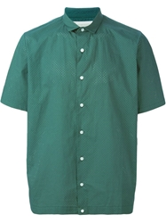 Kolor Short Sleeve Perforated Shirt Green