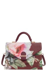 Ted Baker London Floral Print Faux Leather Satchel