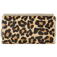Dune Britney Hard Case Clutch Bag Leopard