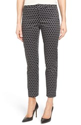 Nydj Women's 'Corynna' Print Stretch Sateen Slim Ankle Pants Optical Dots