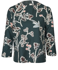 Marni Dark Green Graphic Floral Shell Top