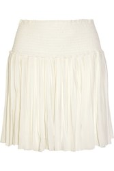 Etoile Isabel Marant Arielle Pleated Georgette Mini Skirt White