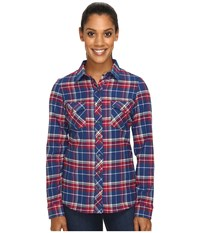 Kuhl Alina Flannel Shirt Blue Depths Women's Long Sleeve Button Up