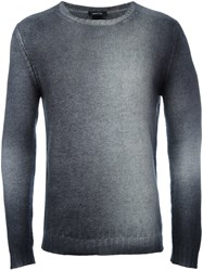 Avant Toi Ribbed Cuffs Pullover Grey