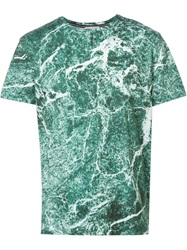 Each X Other Marble Print T Shirt Green