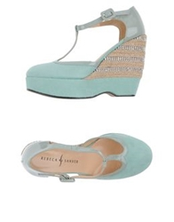 Rebeca Sanver Wedges Light Green