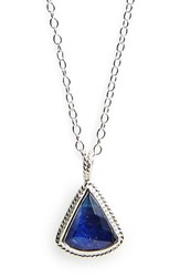 Anna Beck Women's Triangle Semiprecious Stone Pendant Necklace