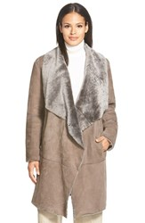 Women's Lafayette 148 New York 'Felice' Long Genuine Shearling Coat