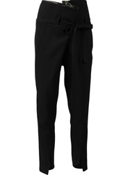 Ann Demeulemeester Drop Crotch Slim Fit Jeans Black