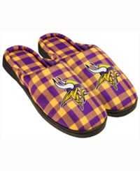 Forever Collectibles Minnesota Vikings Flannel Slide Slippers Purple