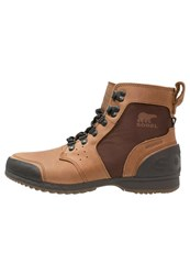 Sorel Ankeny Laceup Boots Grizzly Bear Hickory Cognac