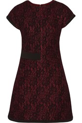 Raoul Everly Wool Blend And Lace Mini Dress Red