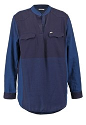 Lee Tunic Shirt Blouse Washed Blue