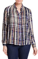 Persona By Marina Rinaldi Plus Size Women's Bavarese Plaid Pintuck Pleat Shirt