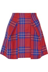 Vivienne Westwood Anglomania Trail Tartan Wool Mini Skirt Red