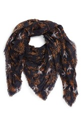 Hinge Women's Floral And Bird Pattern Scarf