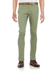 Selected Belted Chino Pants Sea Spray