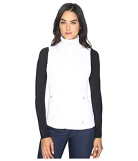 Spyder Melody Full Zip Mid Weight Core Sweater Vest White White 1 Women's Vest