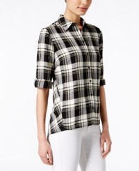G.H. Bass And Co. Plaid Shirt Only At Macy's Black