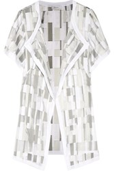 Milly Fil Coupe Organza Jacket Light Gray